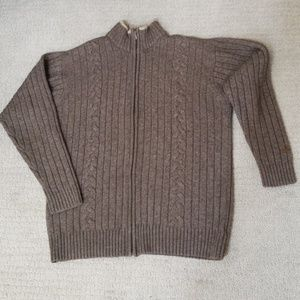 Columbia knitted sweater, size large, front zipper